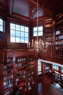 library-chandelier