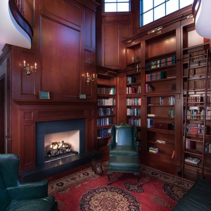 library-fireplace